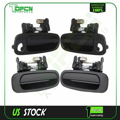 4Pcs for 98-02 Corolla Black Exterior Outside Door Right Left Front Rear Handles
