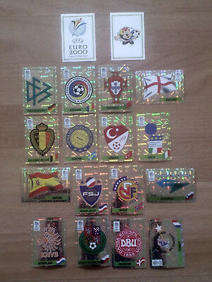 Panini EURO 2000 alle Wappen und Intro/all Badges and Intro
