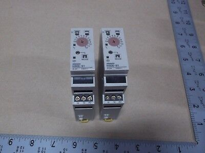 LOT OF 2 Omron H3DE-S1 Multifunction Timer 0.1s-120hr 24-230vac/dc