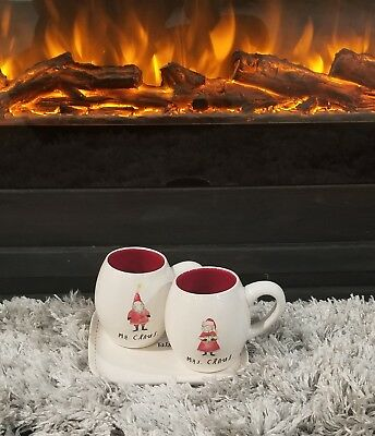Rae Dunn Red Mr. And Mrs Claus Mugs
