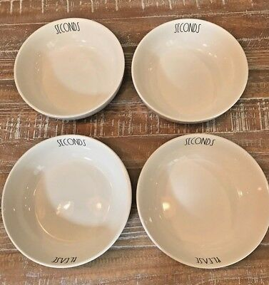 New!! Rae Dunn By Magenta Seconds Please Pasta Bowl Set Of Four *htf*