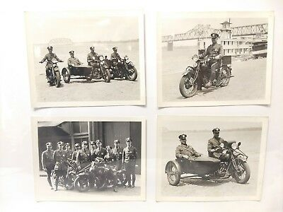 Vintage Original 1930s Louisville KY Police w/ Their Indian Motorcycles Photos