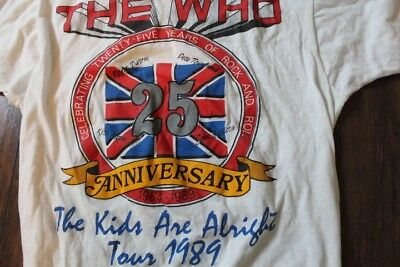 Vintage The Who L 1989 tour T-Shirt  rock north american