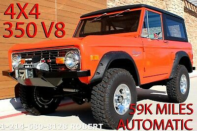 1977 Ford Bronco 4X4 V8 AUTOMATIC Complete Restoration 59K MILES