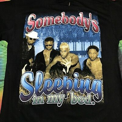 Vintage 90s Dru Hill Somebodys Sleeping In My Bed Rap Tshirt Dry Rot XL