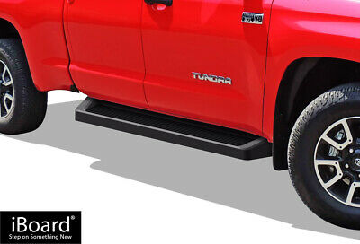 iBoard Black Running Boards Style Fit 07-20 Toyota Tundra Double Cab
