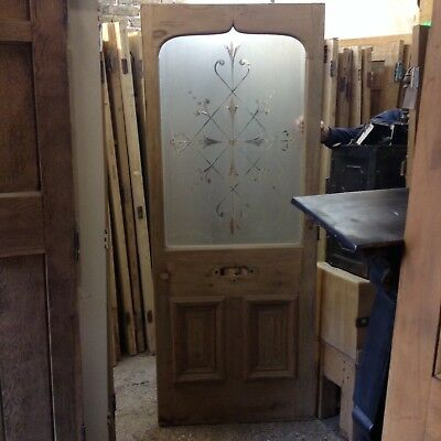 Victorian etched glass door
