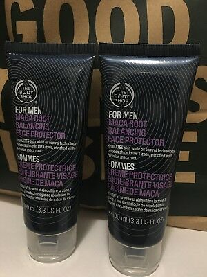 2 x The Body Shop For Men Maca Root Balancing Face Protector 100g + 100g £22