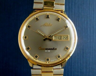 Mido Commander Vintage Mechanical Automatic Hi-Beat 36000 Men's Watch 1157CD cal