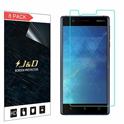 J&D [8-Pack] Nokia 3 Screen Protector, Premium HD Clear Film Shield Screen for 3