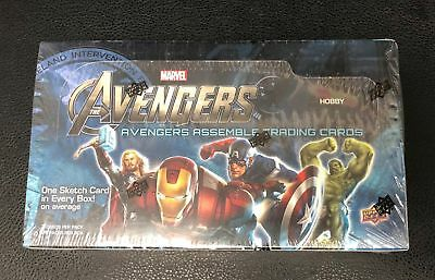 2012 Upper Deck Avengers Assemble Trading Cards New Sealed 24 Pack Hobby Box