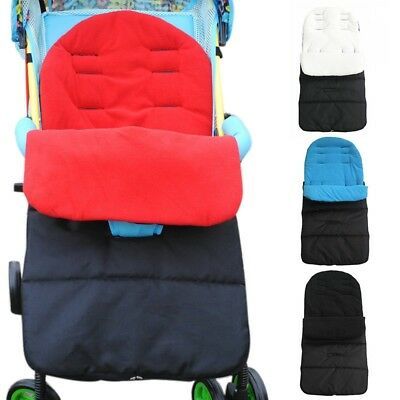 New Baby Stroller Sleeping Bag Faux Fleece Lining Pushchair Foot Muff Colorful
