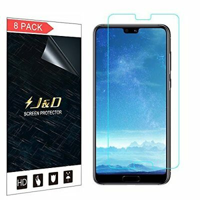J&D [8-Pack] P20 Pro Screen Protector, [Not Full Coverage] Premium HD Clear Film
