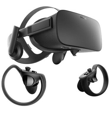 Oculus Rift CV1 VR Headset with Torch Controller. Includes 2 Sensors.
