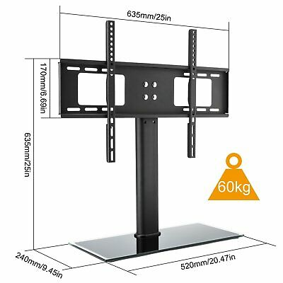 Table Top TV Stand Desktop Bracket VESA Mount LED LCD 32 42 50 55 60 65 inch