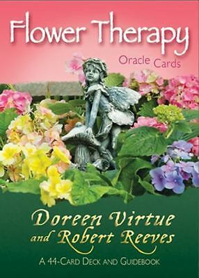 Flower Therapy Oracle Cards: A 44-Card Deck and Guidebook by Doreen Virtue - NEW