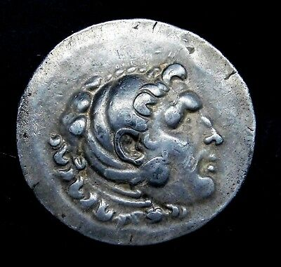 Aeolis, Temnos Tetradrachm in the name of Alexander the Great. Greek Silver Coin