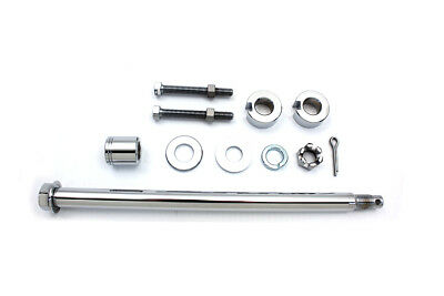 Chrome Rear Axle Kit for Harley Softail FXST Models 1993-1999