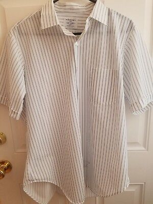 Vintage Arrow Dectolene Short Sleeves Dress Shirt Neck Measures 15""