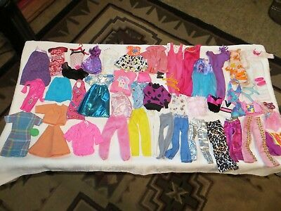 Barbie Doll Size Clothes~Over 40 Piece Lot~Dresses~Swimsuits~Pants~Tops~Skirt
