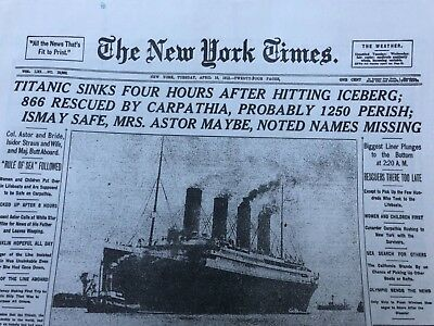 TITANIC SINKING 1912 THROUGHOUT  THE YEARS HISTORY NEW YORK TIMES 24 pages