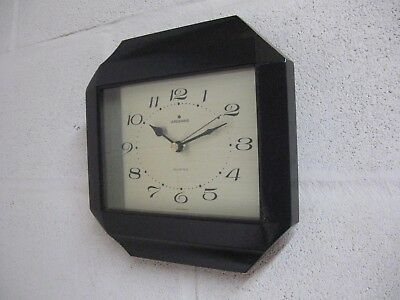 Vintage Retro 1970s Junghans Germany Wood and Brass Wall Clock.