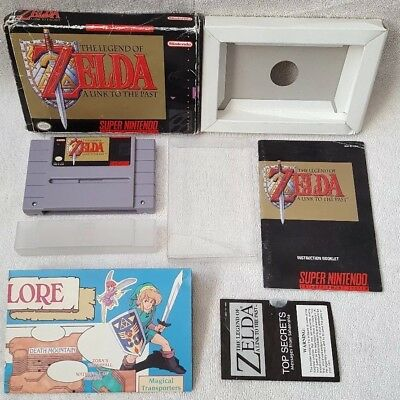 The Legend Of Zelda A Link To The Past Complete Cib Map Secrets Protector SNES