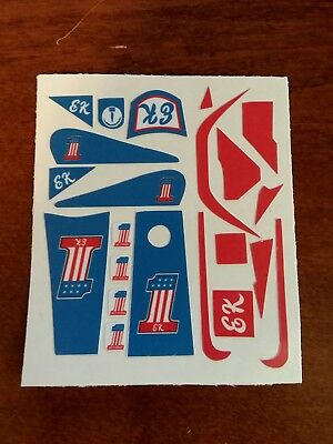 """Evel knievel"" CUSTOM STUNT CYCLE VINYL  STICKERS  custom stunt bike"