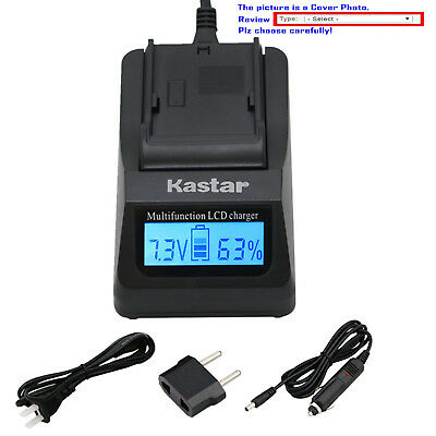 Kastar Battery LCD Fast Charger for Panasonic DMW-BLE9 DMW-BLG10 Lumix DMC-TZ100