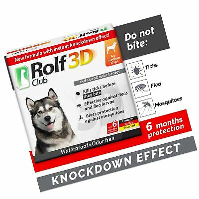 Rolf Club 3D FLEA Collar for Dogs – Flea and Tick Prevention for Dogs – Dog F...