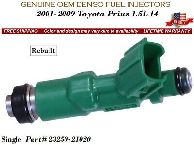 4 Fuel Injectors OEM DENSO for 2001-2009 Toyota Prius 1.5L I4 #23250-21020