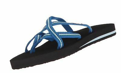 5f4740b45842 Teva Women s Olowahu Set of Two Pairs of Flip-Flops Bob Lindi Blue 7