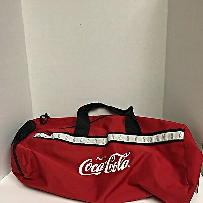 Coca Cola Zip Up Duffle Bag Coke Merchandise Used Only Once! Pristine Condition!