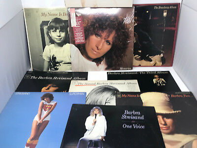 Barbra Streisand LP Vinyl Record Lot of 11 Albums - Memories, Superman, Guilty