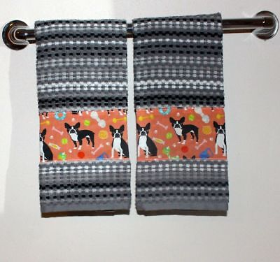 Boston Terrier Towel set.  Dog lovers, wow!