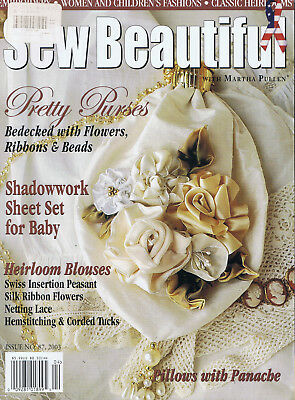 SEW BEAUTIFUL MAGAZINE issue 87  Martha Pullen Magazine SMOCKING