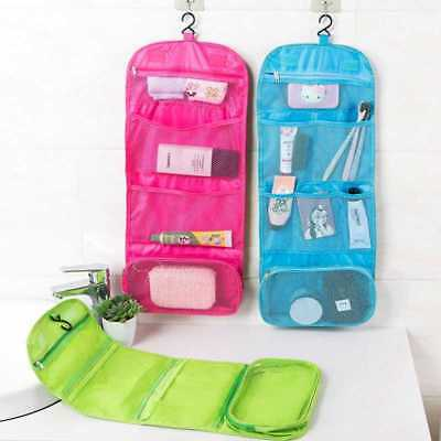 Travel Cosmetic Storage MakeUp Bag Folding Hanging Toiletry Wash Organizer  Pouch d1d5d37300876