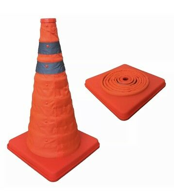 4 x POP UP COLLAPSIBLE SAFETY TRAFFIC WARNING CONE car van caravan motorhome