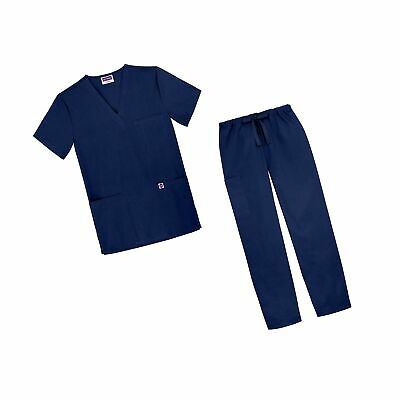 Sivvan Unisex Classic Scrub Set V-Neck Top/Drawstring Pants (Available in 12 ...