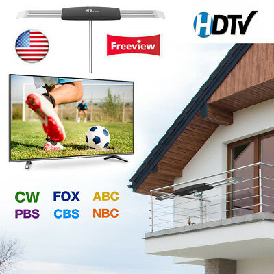 1byone TV Antenna Digital Signal Amplified Television Outdoor High Gain Booster