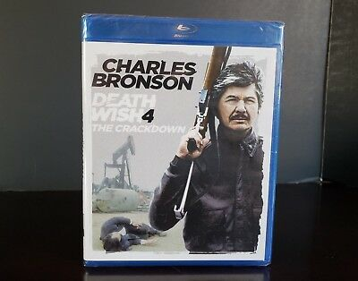 *NEW* DEATH WISH 4: THE CRACKDOWN (1987) BLU RAY Charles Bronson 1980s Action
