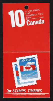 Canada -Booklet Pane of 10 Stamps in Cover -Flag over Clouds #1166a (BK112) -MNH