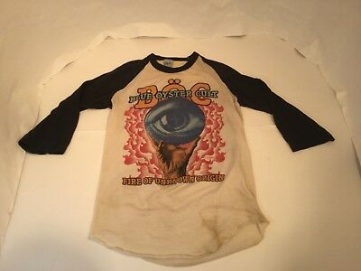 Vintage original Blue Oyster Cult Fire of Unknown Origin  Mens Graphic T-Shirt