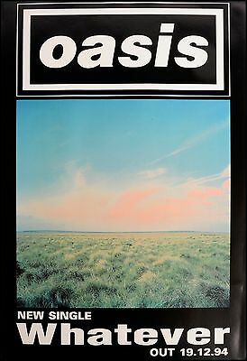 Original litho-printed Oasis tour poster - Whatever