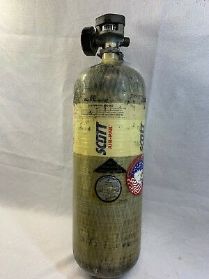 SCOTT 2216 PSI CARBON SCBA AIR PAK TANKS BOTTLE MANUFACTURED 2009 Current Hydro