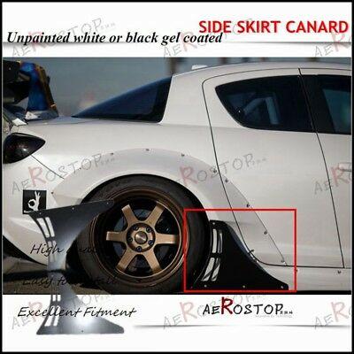 FIBER GLASS FRP Rocket Rb Bunny Pandem Side Skirt Canard 2Pcs For Rx-8 Sep3  M/C