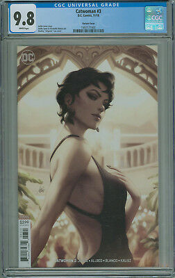Catwoman #3 CGC 9.8 Stanley Artgerm Lau Variant DC Comics 2018 Free Shipping