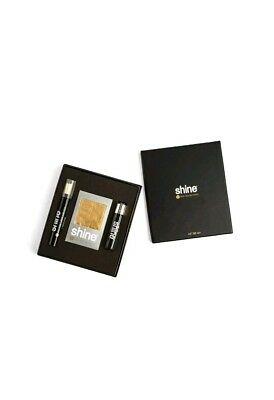 Shine 24k Gold Rolling Papers - Pre Rolled Cone King Size, 1 1/4 2 Sheet+Lighter