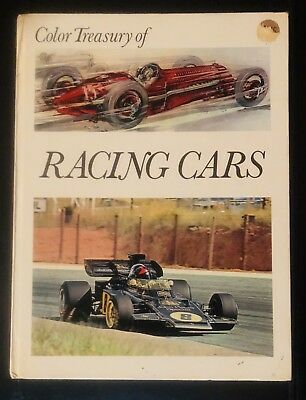Color Treasury of Racing Cars Antique Vintage Classic Collectible 1971