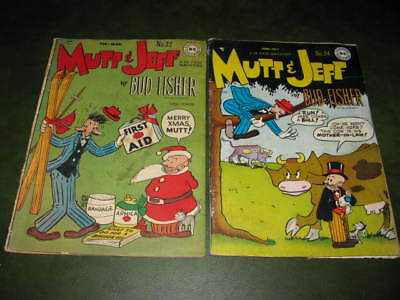 Mutt and Jeff #32 & #34 DC Comics 1948 G/VG Lot of 2 Golden Age Comic Books